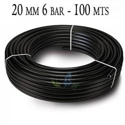 Agricultural pipe 20mm 6 bar 100mt black
