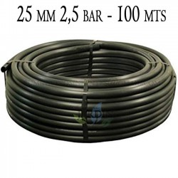 Agricultural pipe 25mm 2.5 bar 100mt black