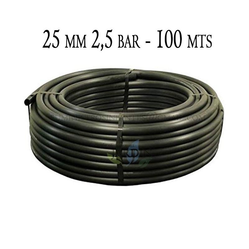 Tubería Agrícola 25mm 2,5 bar 100mt negro