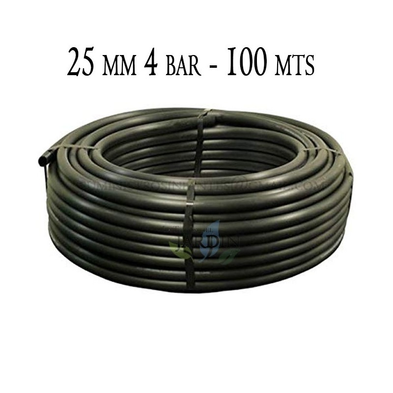 Agricultural pipe 25mm 4 bar 100mt black