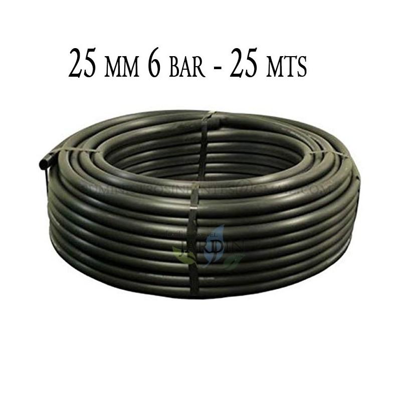 Tubería Agrícola 25mm 6 bar 25mt negro