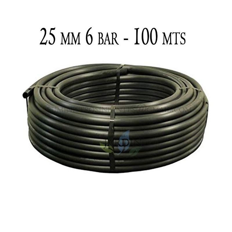 Tubería Agrícola 25mm 6 bar 100mt negro