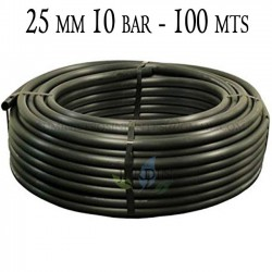 Agricultural pipe 25mm 10 bar 100mt black