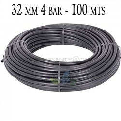 Agricultural pipe 32mm 4 bar 100mt black