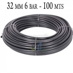 Agricultural pipe 32mm 6 bar 100mt black