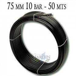 Agricultural pipe 75mm 10 bar 50mt black