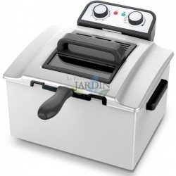 Stainless steel fryer 3000W 5 liters, ideal for restaurants