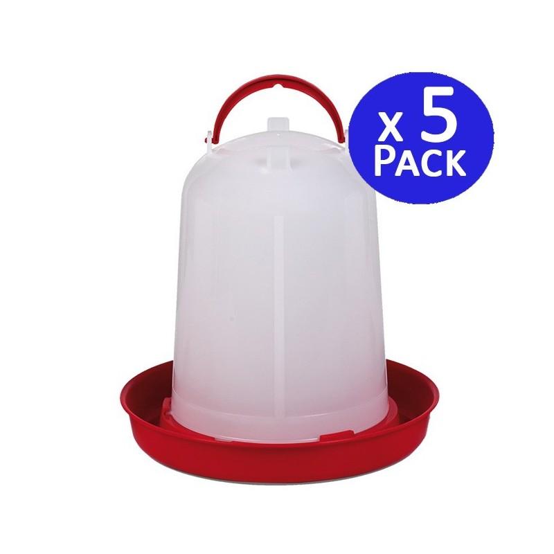 Chicken trough 3 liters. Pack 5 units