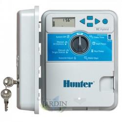 Programador de riego Hunter XC Hydrid 6 zonas exterior