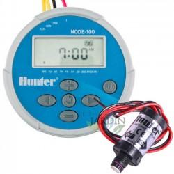 Programador de riego a pilas NODE100 + Solenoide 9V Hunter