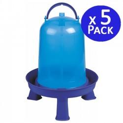 Bebedero gallinas 8 litros azul. Pack 5 unidades
