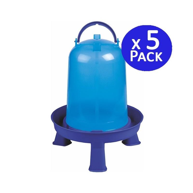 Chicken drinker 8 liters blue. Pack 5 units