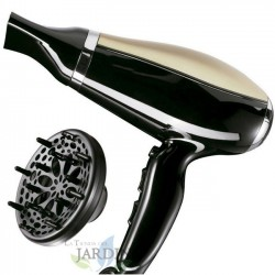2000W black hair dryer 2 speeds and 3 temperatures