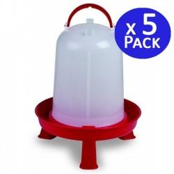 Chicken drinker 8 liters red. Pack 5 units