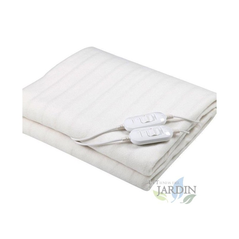 Double electric blanket 160x140cm, 2 x 60W, 2 temperatures and 2 adjustable controls