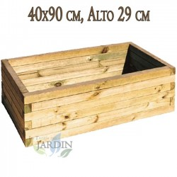 Wooden planter 40x90 cm, height 29 cm