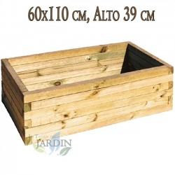 Wooden planter 60x110 cm, height 39 cm