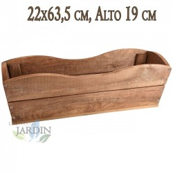 Wooden planter 22x63 cm, height 19 cm