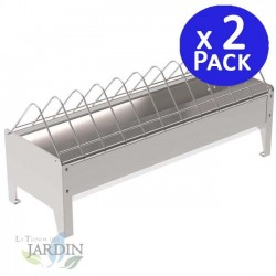 Metal corral hen feeder. Pack 2 units