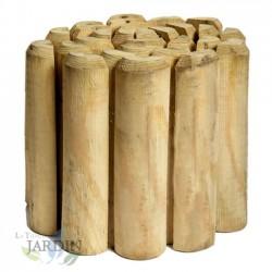 Bordura flexible de madera, 20 x 7 x 250 cm