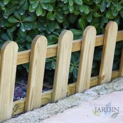 Wooden garden fence, 25 x 115 cm