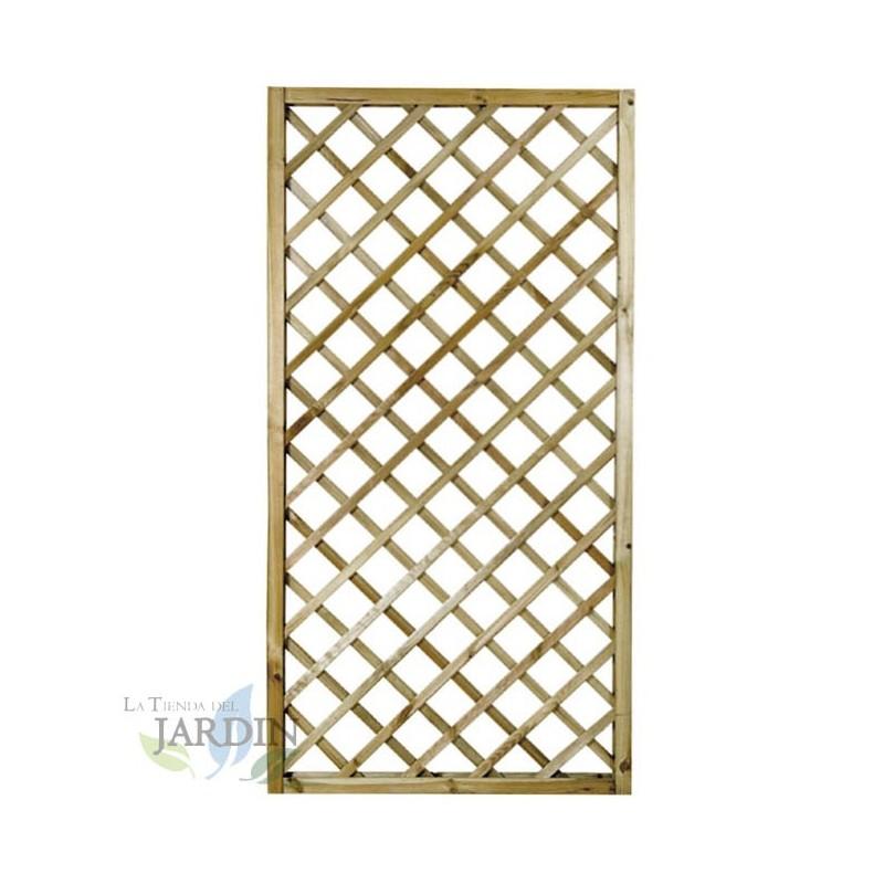 Panel de Celosía recto 50x180 cm, cuadros 9 cm