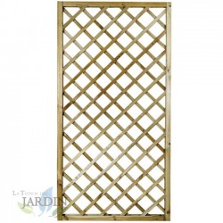 Lattice panel straight 90x180 cm, squares 9 cm