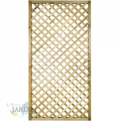 Lattice panel straight 90x180 cm, squares 4 cm