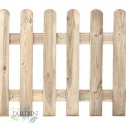 Valla clásica de madera 80 x 210 cm