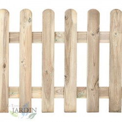 Classic wooden fence 100 x 210 cm