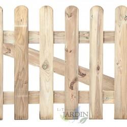 Puerta clásica de madera 120 x 100 cm