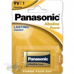 Pila 9V Alcalina Panasonic larga duración