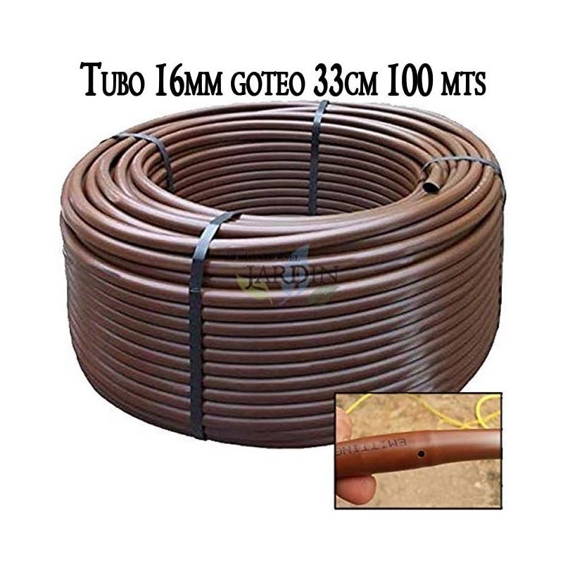 Pipe 16mm drip irrigation to 33cm brown, 100 meters