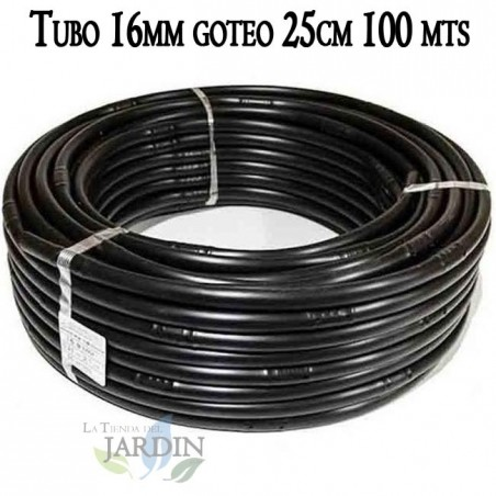 Pipe 16mm drip irrigation to 25cm black, 100 meters