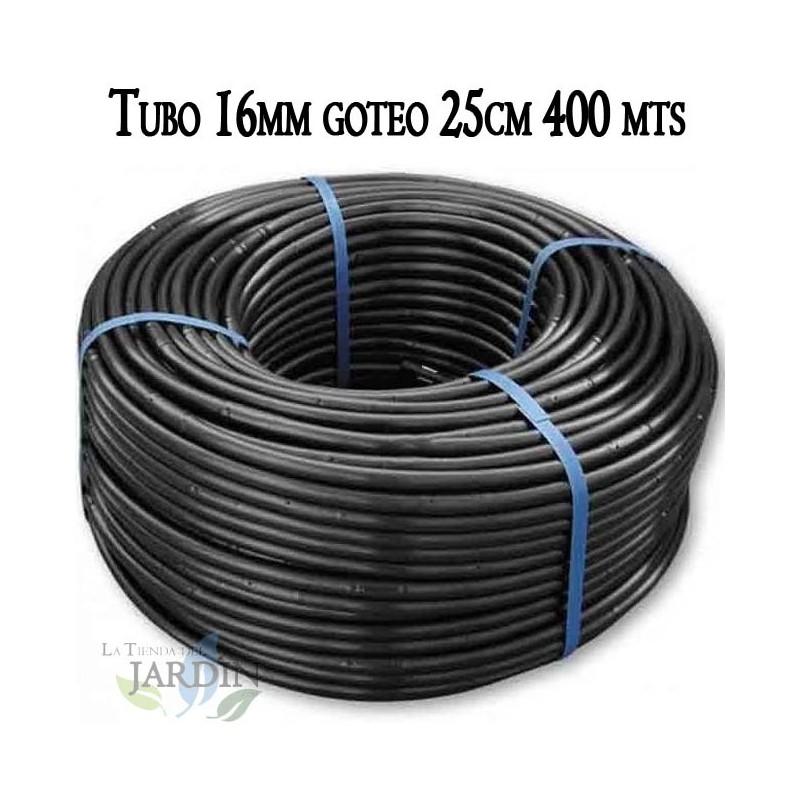 Presi/ón m/áxima 2,5 bar Utilizada en riego por goteo. 25 mm x 50 m Suinga Tuber/ía polietileno agricola color negro