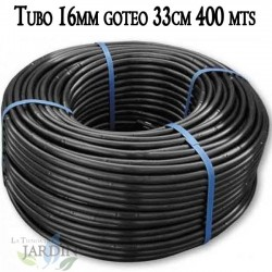 16mm drip irrigation pipe 33cm black, 400 meters