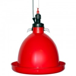 Automatic hanging drinker for chickens and chickens