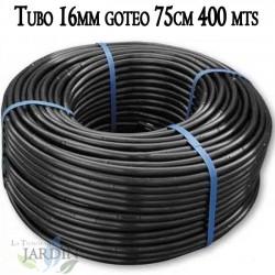 Pipe 16mm drip irrigation to 75cm black, 400 meters