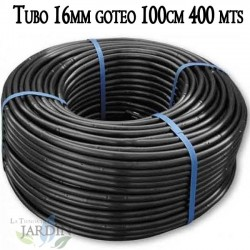 Pipe 16mm drip irrigation to 100cm black, 400 meters