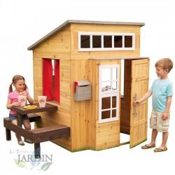 Kidkraft Moderna casa de juguetes de madera para exterior