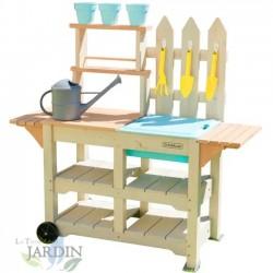 Mesa de trabajo de jardinería con accesorios