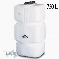 Depósito Gasóleo cuadrado 750 litros 74x74x165 cm