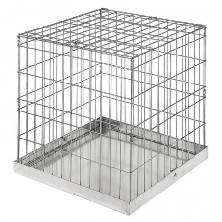 Jaula de exposición sin puerta para aves