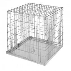 Jaula de exposición sin puerta aves 97x97 cm