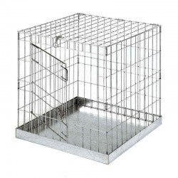 Exposure cage with door for birds