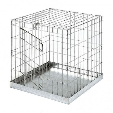 Jaula de exposición con puerta para aves 60x60 cm