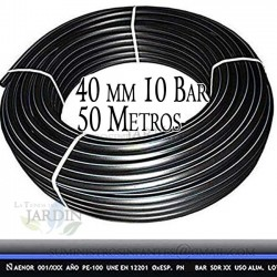 Food Polyethylene Pipe 40mm 10 bar 50m PE100 high density