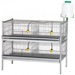 Batería exposición gallinas, pollos, aves 105x62x84 cm