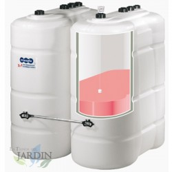 Diesel tank 1000 liters 142x66x169 cm with double bucket