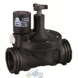 "1 ""9V Bermad solenoid valve with 200 series flow regulator, residential and agricultural use"